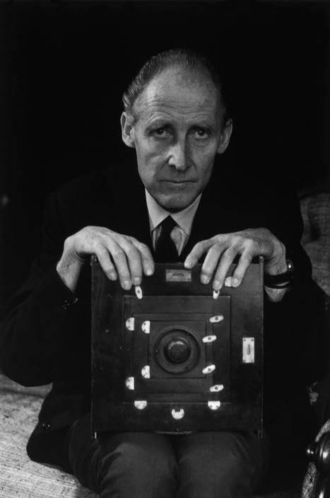 Bill Brandt posing in his home, London, nd 1960s -by Ara Güler - format for a bill