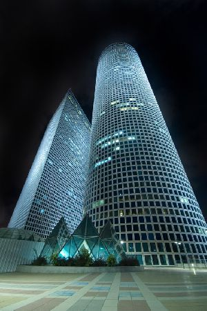 The Shalom Towers in Tel Aviv.  I lived a mile or so from here my first year in Israel.
