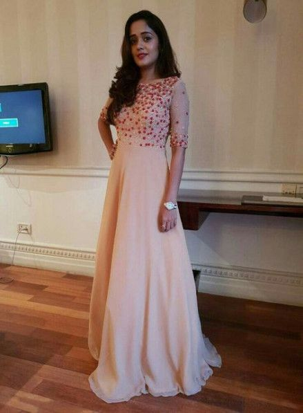 simple reception dress indian