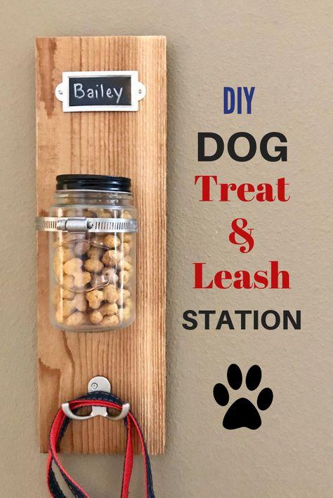 DIY Dog Treat & Leash Station with Milk-Bone #ad