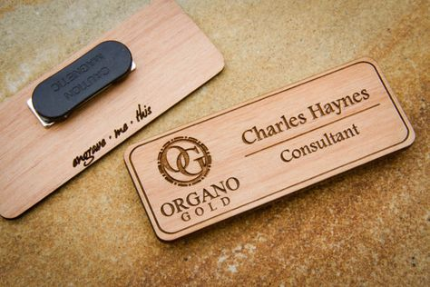 Custom Name Badges Engraved Tag With Logo