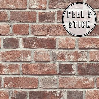 Transform Transform Red Brick Peel And Stick Wallpaper Lowes Com In 2020 Red Brick Wallpaper Peel And Stick Wallpaper Brick Wallpaper