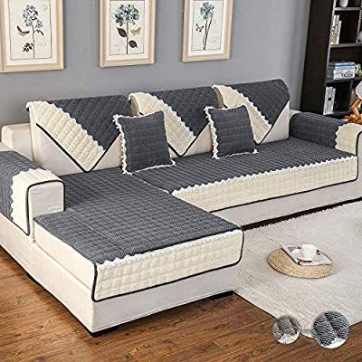 Amazon Com Ostepdecor Couch Cover Sofa Cover Quilted Sectional Couch Covers Velvet Sofa Slipcover For Dogs C In 2020 Sofa Covers Sectional Couch Cover Couch Covers