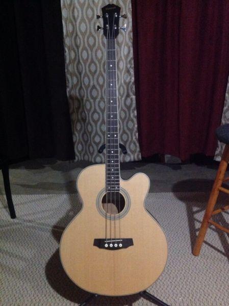 Denver Acoustic Bass Guitar With Output Jack Guitars Moncton Kijiji Acoustic Bass Guitar Acoustic Bass Bass Guitar
