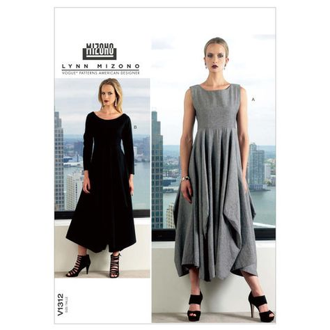3a4cefccae690 Vogue Misses  Pleated and Ruched Dress with Attached Cape 1535