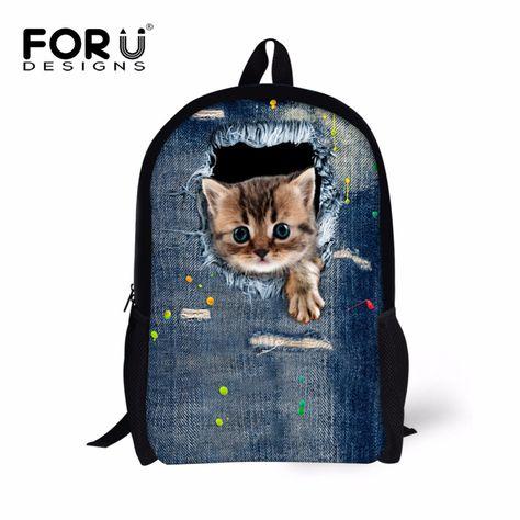 Cute Animals Pattern Background Print Drawstring Backpack Rucksack Shoulder Bags Gym Bag