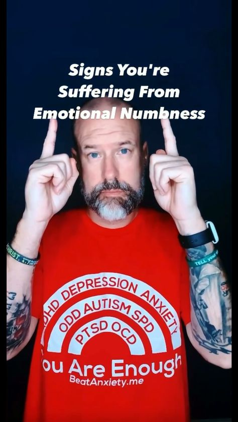 So many suffer with emotional numbness.