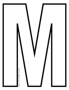 Capital Letter Outlines For A Z Letter M Find Craft Templates And Activity Mats For Each Letter Of Lettering Printable Alphabet Letters Lettering Alphabet