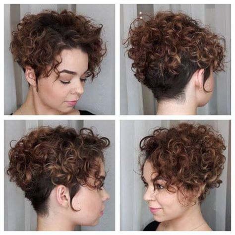 25 Cute \u0026 Easy Hairstyles for Short Curly Hair