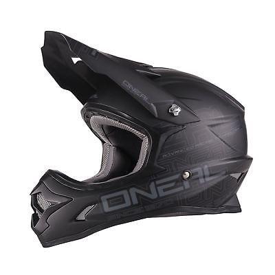 ONeal 3 Series Flat MX Helmet Black
