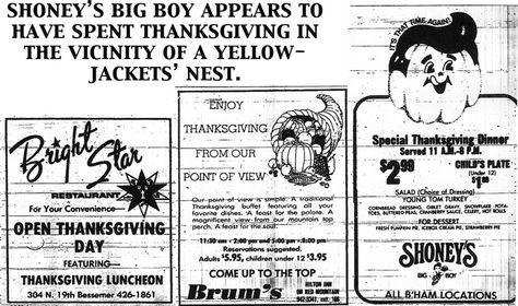 BIRMINGHAM REWOUND remembers November 1977 #BigBoy #print #ads #restaurants