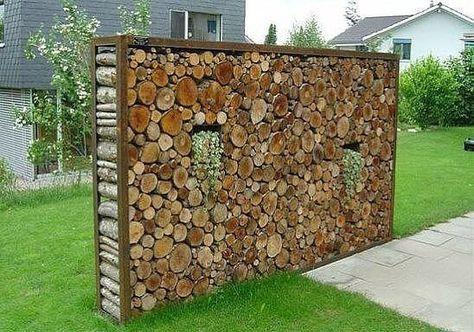 Bildergebnis für steinmauer sichtschutz Garten Pinterest - garten sichtschutz mauer