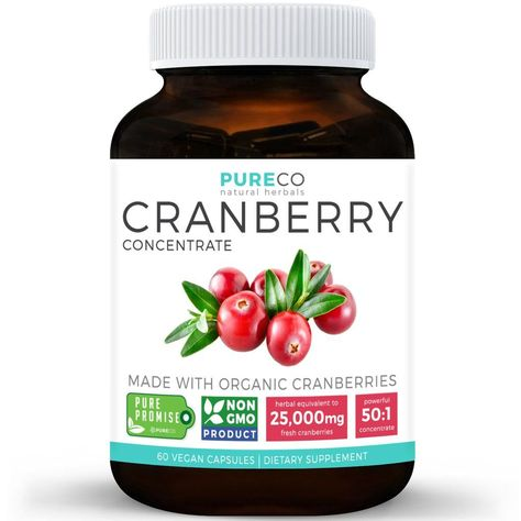 Organic Cranberry Concentrate 25 000mg Of Fresh Cranberries