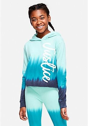 Tie Dye Logo Hoodie Justice Clothing Outfits Girls Fashion Tween Justice Clothing
