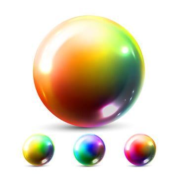 Sphere Ball Vector Orb Shining Round Button Glossy Element Cirlce Object Gold Stone Clear Bubble Crystal Magic Symbol Holographic Gradient 3d Realistic Illustra Sphere Ball Ball Crystal Magic