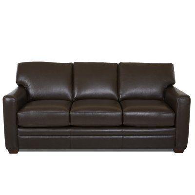 Wayfair Custom Upholstery Carleton Genuine Leather 81 Square Arm Sofa Bed Wayfair In 2020 Custom Upholstery Upholstery Bed Wayfair Custom Upholstery