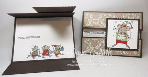 Gate Fold Peek a Boo card video (Dawns stamping thoughts Stampin'Up! Demonstrator Stamping Videos Stamp Workshop Classes Scissor Charms Paper Crafts)