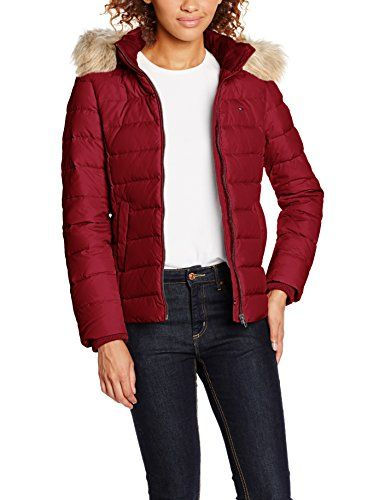 Hilfiger Denim Womens Thdw Basic Down Jacket 2 Down Long Sleeve Jacket Red Rhubarb 651 8 Manufacturer Size S Invest In Some Designer Style This Season Y