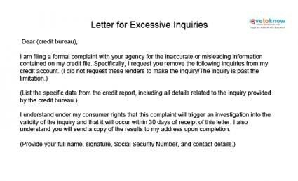 Credit Inquiry Letter For Mortgage from i.pinimg.com