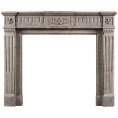 Monumental Antique French Louis Xvi Fireplace Mantel In Carrara White Marble Antique Fireplace Fireplace Mantels For Sale Fireplace Mantels