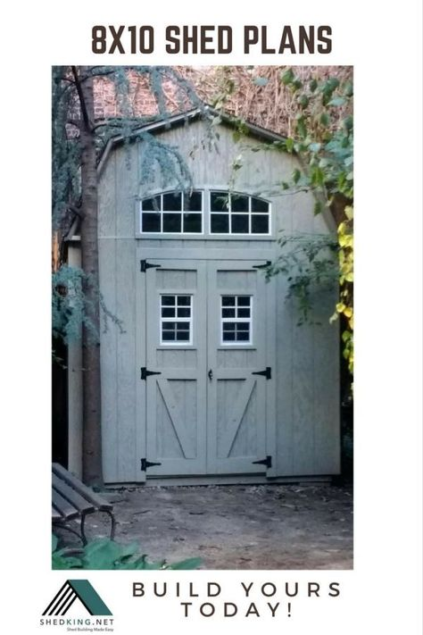 See all of my economically priced 8x10 shed plans that you can use to build a neat woodshop, she shed, storage shed, man cave and more.