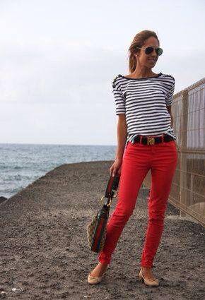 Pin de Ariana Reyes en Ary pantalones | Pantalones rojos