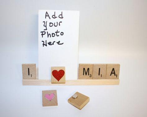 Custom Frame, Love Frame, Custom Photo Holder, Photo Frame, Personalized Frame, Love Mom, Love Dad,
