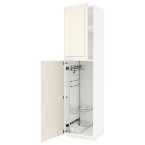 Metod High Cabinet With Cleaning Interior White Ringhult