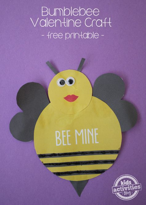 Valentine Craft Printable � Bee Mine!