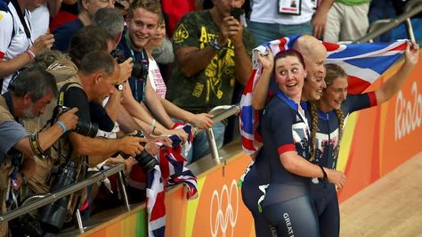 Team pursuit cycling track GOLD Rio 2016 Katie Archibald, Joanna Rowsell-Shand, Laura Trott and Elinor Barker.