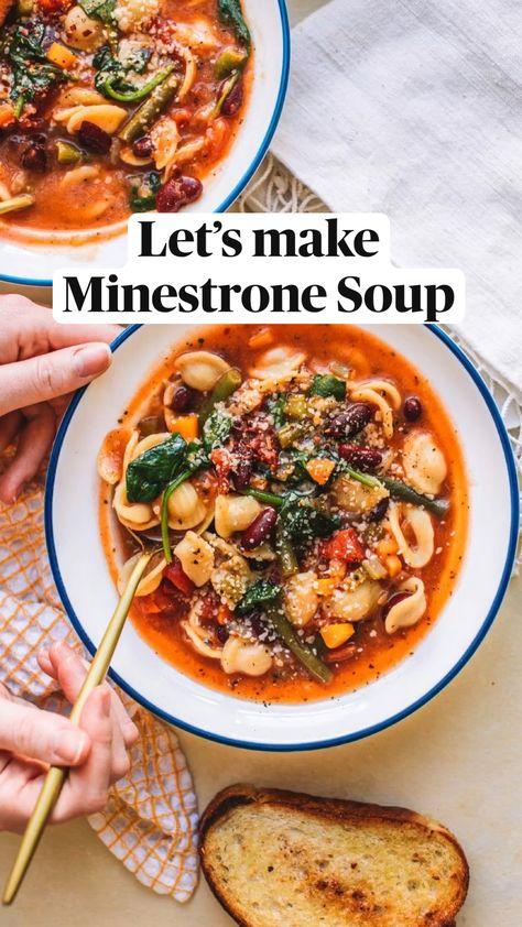 Let's make  Minestrone Soup