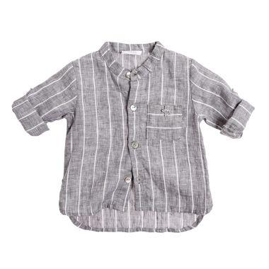 3128b841f Camisa de lino listada de bebé