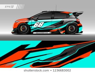 Racing car decal design vector  Graphic abstract stripe