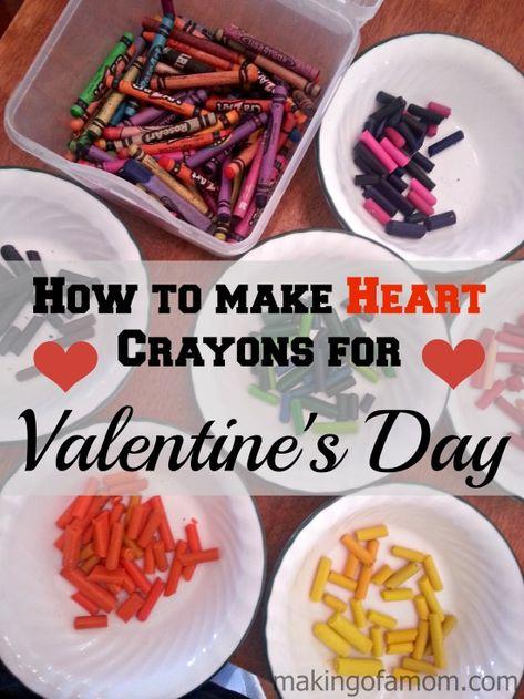 How to Make Rainbow Heart Valentine Crayons
