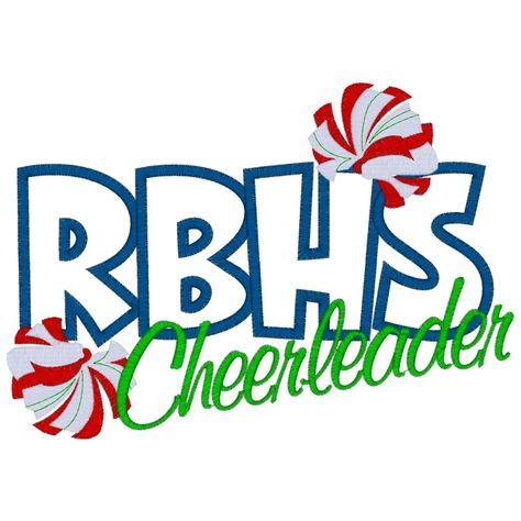 Future Cheerleader Megaphone   Cheerleader (70) RBHS Cheerleader Applique 6x10