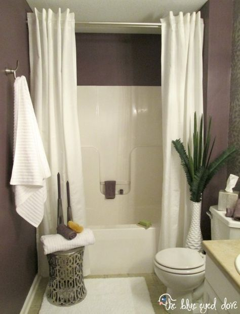 Hang A Second Shower Curtain To Make Your Tub Seem Extra