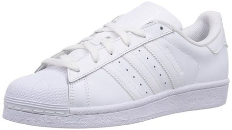 adidas Superstar Foundation J - Zapatillas para niño, color blanco, talla 38