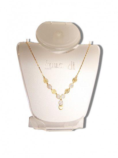 طقم كامل ذهب عيار 18 وزن مناسب لطقم كامل Gold Necklace Gold Necklace