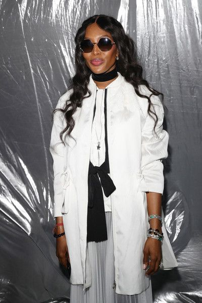 Naomi Campbell attends Moncler Genius during Milan Fashion Week.