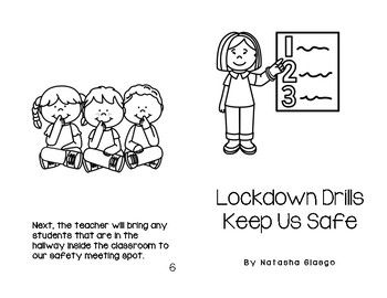 Lockdown Drills School Safety Social Story Print Color Book