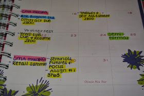 Stay organized in college by using a planner