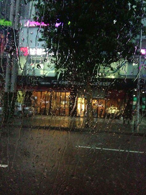 Rainy day in Seoul, Korea