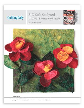 3-D Soft-Sculpted Flower Templates by Barb Forrister - Media ... : quilting daily - Adamdwight.com