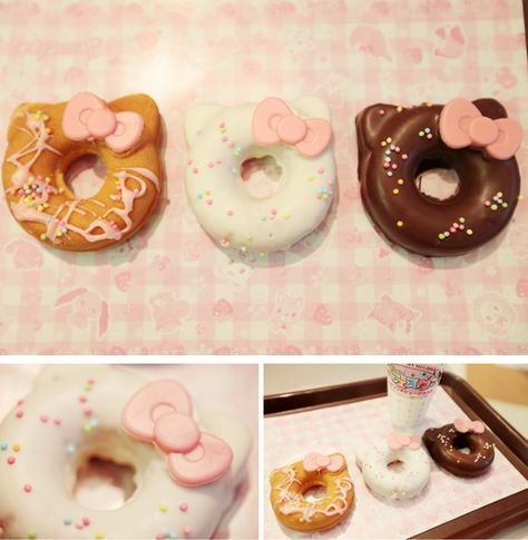 My two favorite things - donuts and Hello Kitty! Available at Puroland in Japan.