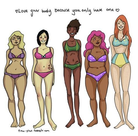 Love yourself. Love others. Be body positive about all sizes. Be a good role model. 20 reactions to how Hollywood, the fashion industry, and society in general says we should look.