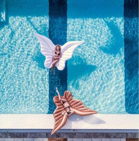 OurAngel Wings Floaty is perfect for solo lounging at the beach, pool or lake or anywhere this summer! This Giant Angel Wings Pool Float easily packs well, for traveling with your new favorite float yet is a thick, durable premium pool float with a soft feel finish and high-quality details. It can safely hold up to 1
