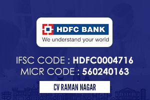 Hdfc Bank Cv Raman Nagar Ifsc Code Coding Icici Bank Personal Loans