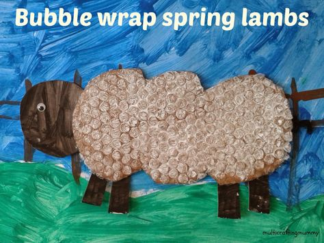 Bubble Wrap Spring Lambs. Ideal Spring or Chinese New Year of the Sheep craft activity for toddlers and preschoolers.