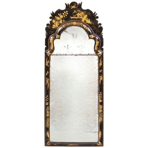 English Queen Anne Period Mirror From A Unique Collection Of