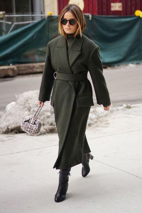 winter outfits new york Miroslava Duma New York Fashion Week Fall 2017 Street Style Minimal.